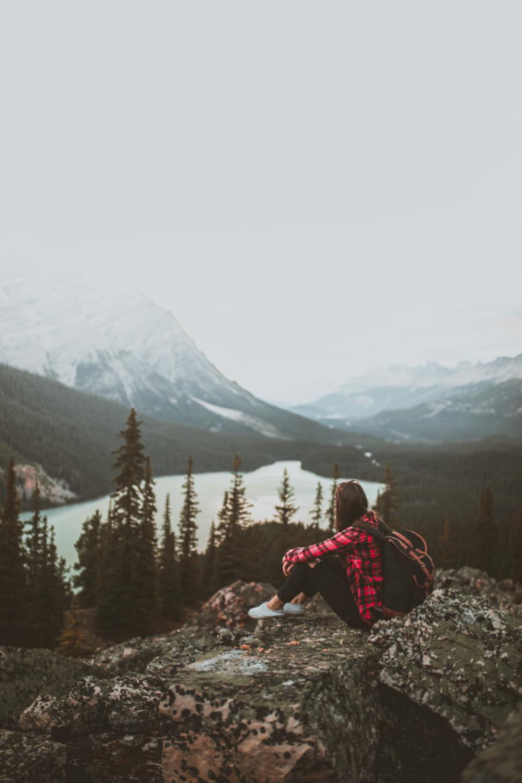 Fall In The Mountains Wallpaper Free Photo Of Girl Mountain Mountains Stocksnap Io