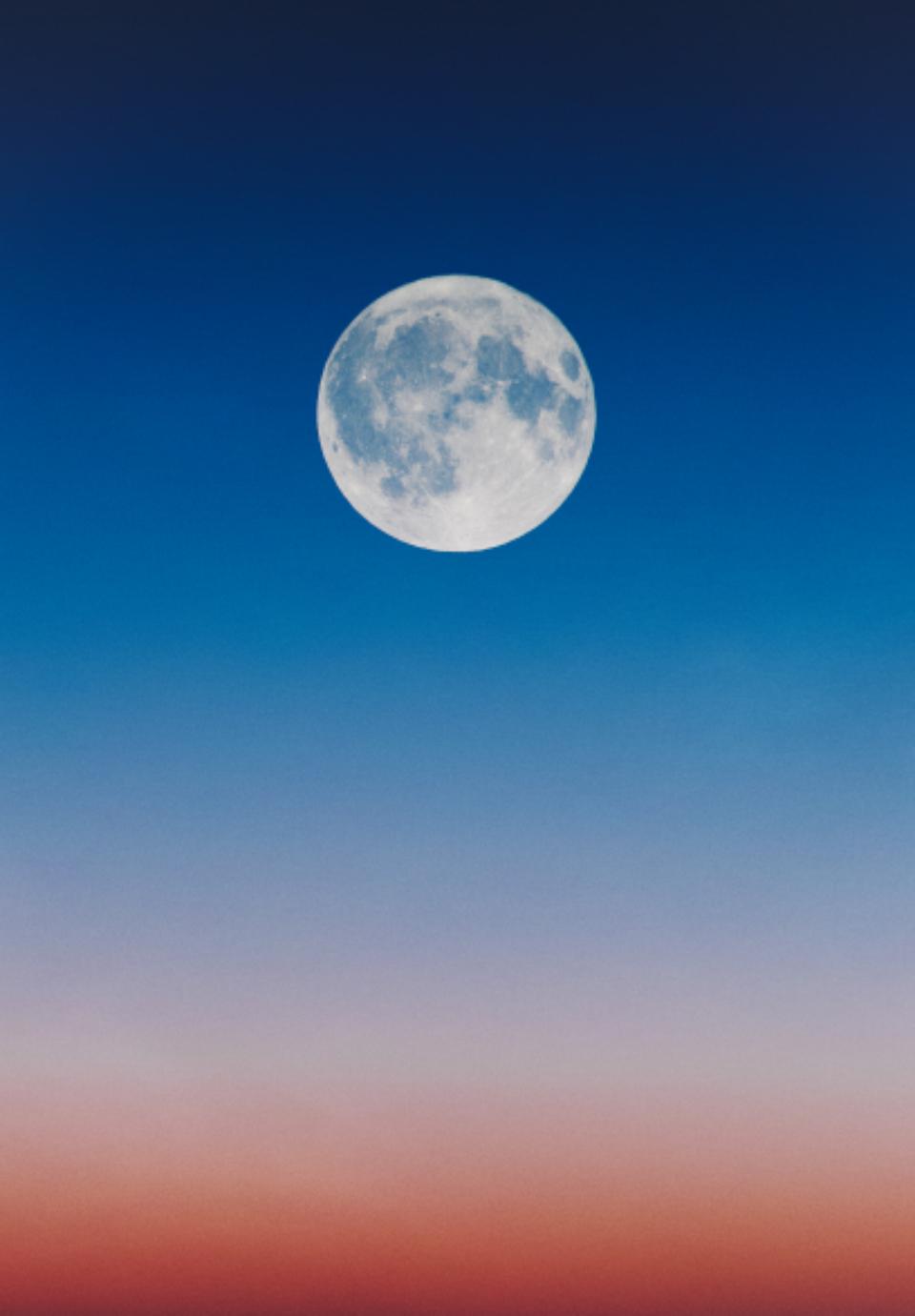 Fall Mountaons In The Sun Wallpaper Free Photo Of Full Moon Dawn Wallpaper Stocksnap Io