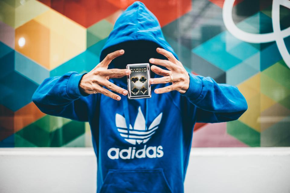 people man cards anonymous hoodie jacket adidas magic game