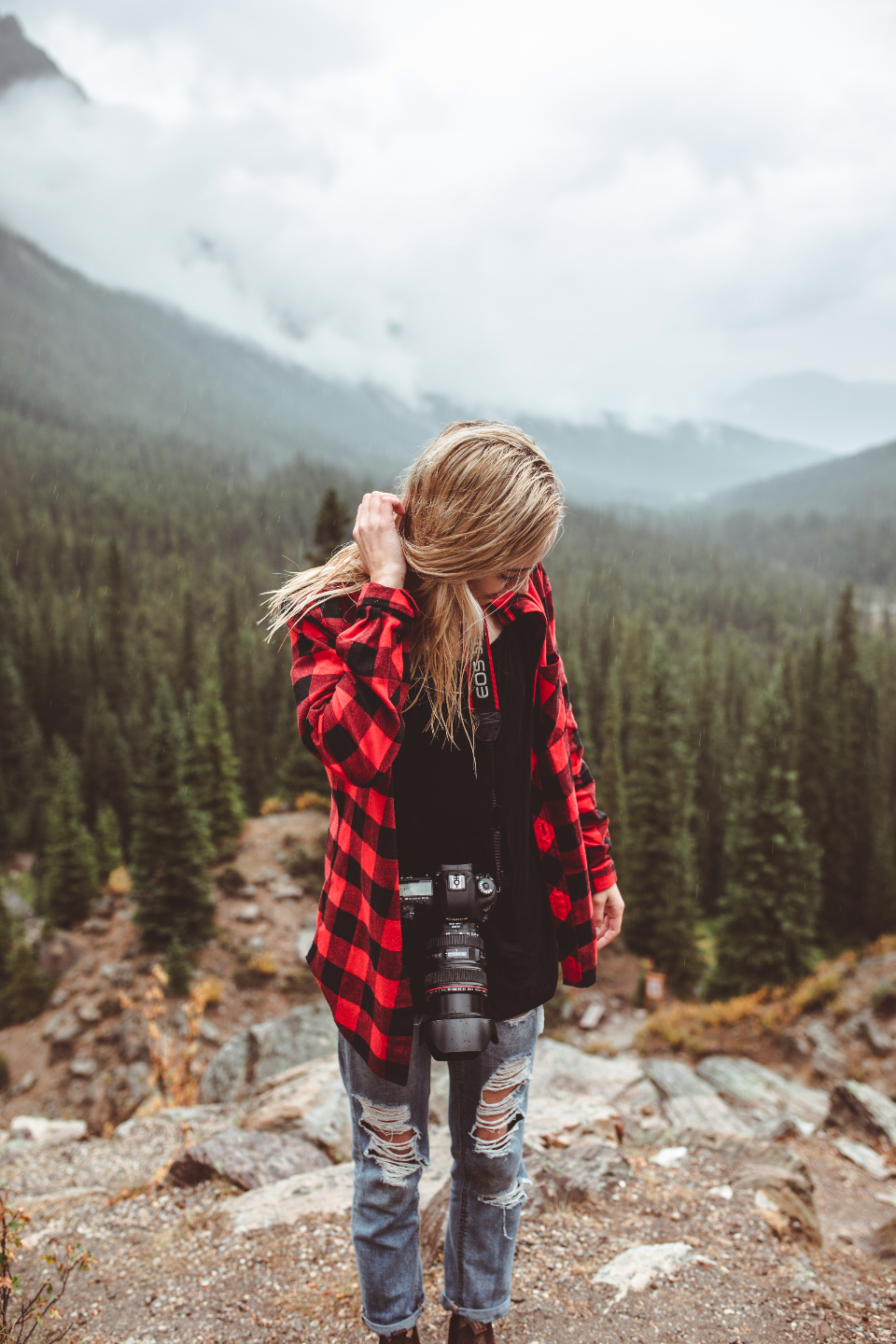 Fall Flannel Wallpaper Free Photo Of Girl Blonde Woman Stocksnap Io