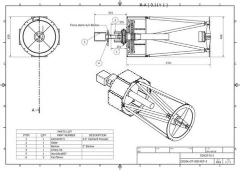 CDK 20'' Telescope