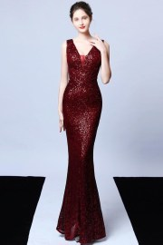 mto elegant illusion -neck sequins