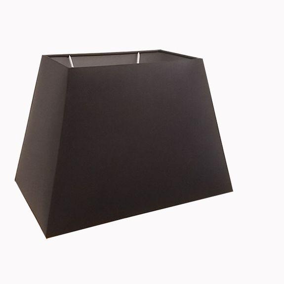 abat jour rectangle pyramide en chintz noir et argent