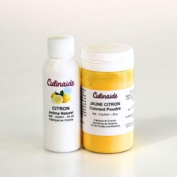 arome naturel de citron colorant jaune citron