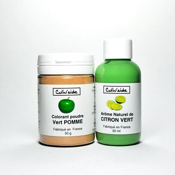 arome naturel de citron vert colorant vert pomme
