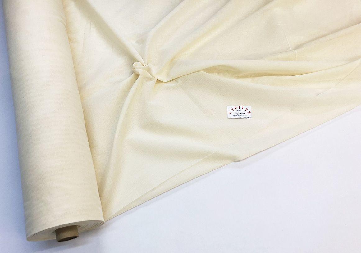 tissu voile coton 260cm en gros par rouleau de 50 m