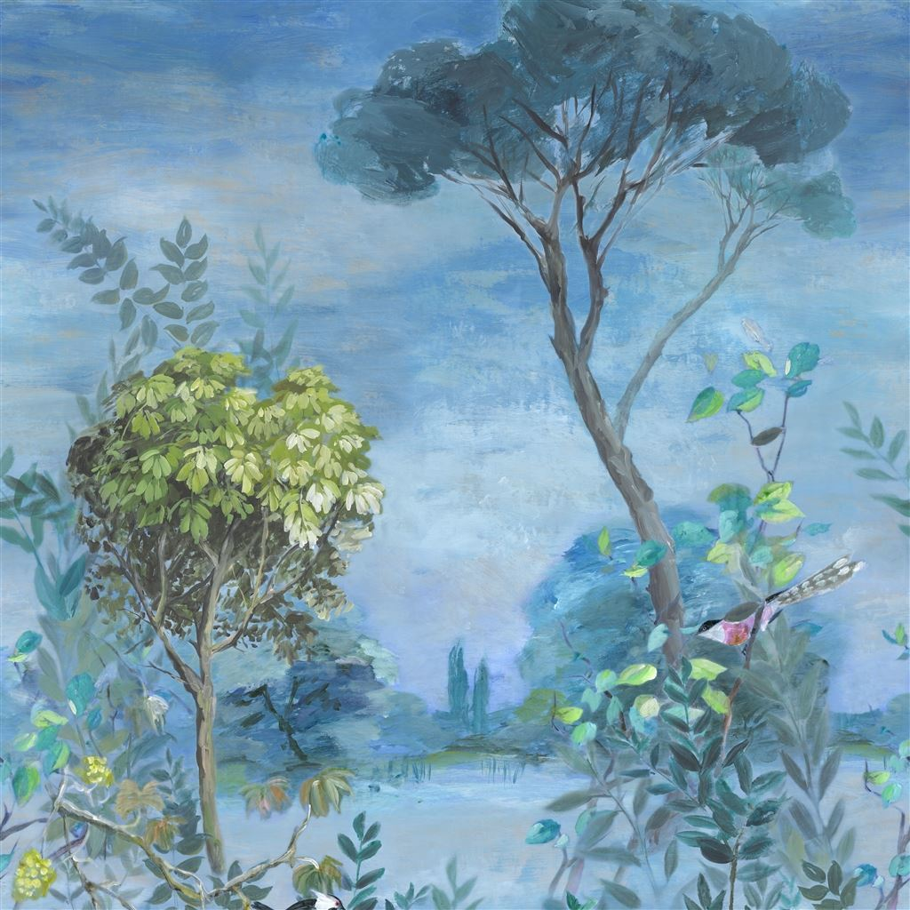 Designers Guild Wallpaper Giardino Segreto Delft Scene 1 Wallpaper At Fanny La Pie The Parisian Trendy Website