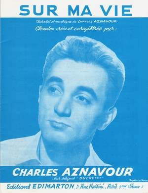 Charles Aznavour Sur Ma Vie : charles, aznavour, Partition, Charles, AZNAVOUR