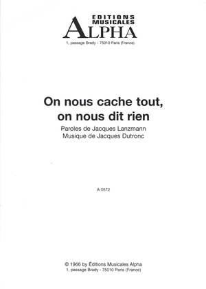 On Nous Cache Tout, On Nous Dit Rien — Jacques Dutronc