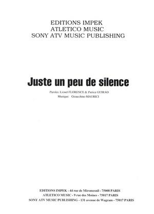 Juste Un Peu De Silence : juste, silence, Partition, CALOGERO, Juste, Silence
