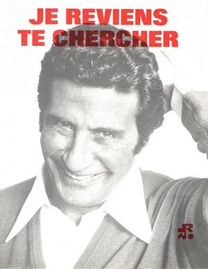 Chanson Je Reviens Te Chercher : chanson, reviens, chercher, Partition, Gilbert, BECAUD, Reviens, Chercher