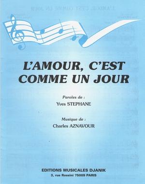 L Amour C Est Comme : amour, comme, Partition, Charles, AZNAVOUR,, Jean-Claude, PASCAL, L'amour,, C'est, Comme