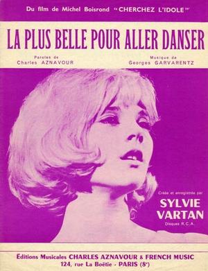 La Plus Belle Pour Aller Danser Paroles : belle, aller, danser, paroles, Partition, Sylvie, VARTAN, Belle, Aller, Danser, Michel, BOISROND,