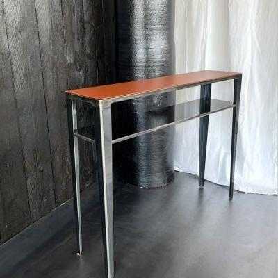 console design meuble metal style loft