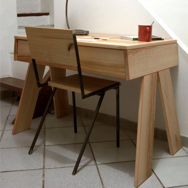 Bureau Bois Design Minimaliste Meuble Bois Loftboutik
