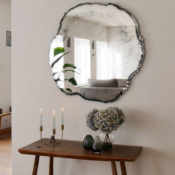 miroir mural design arbre