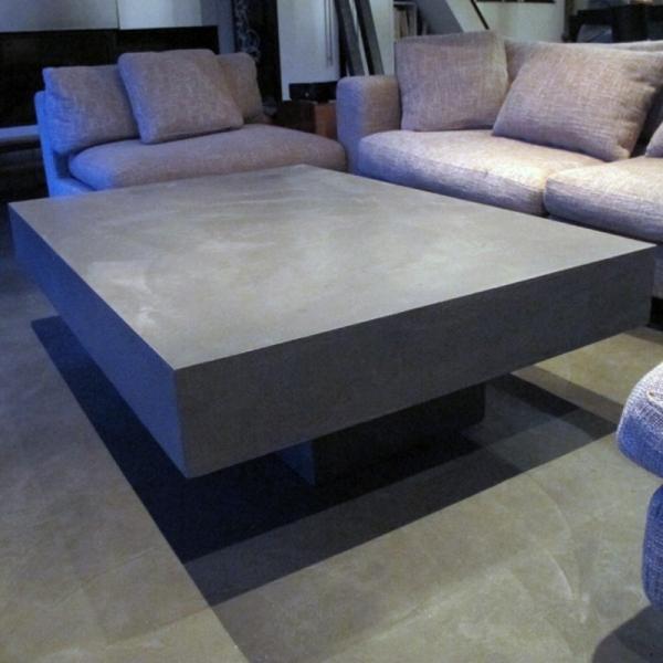 table basse beton design