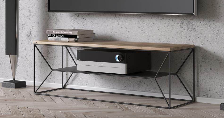 meuble tv bois et metal design