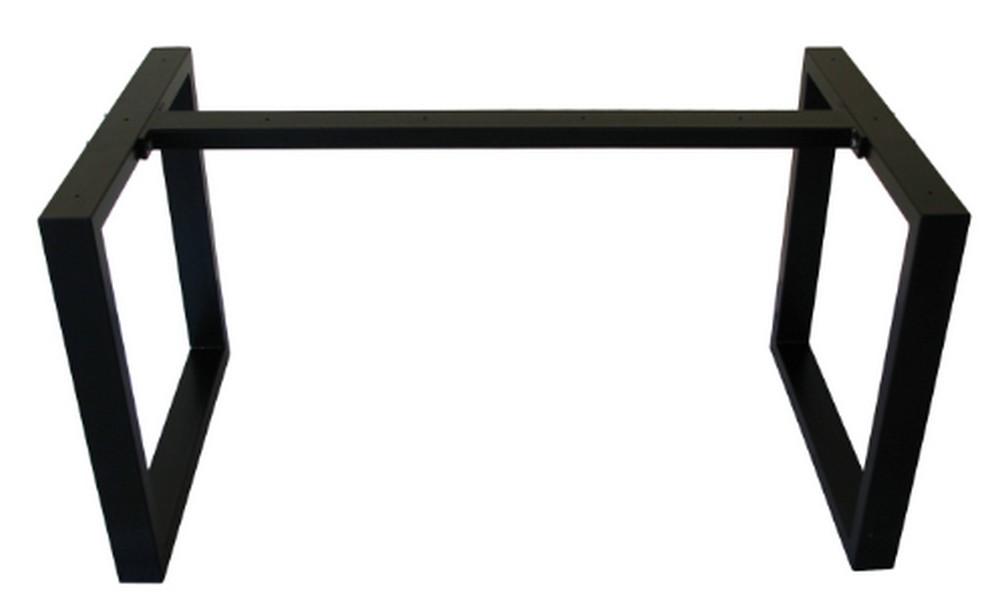 pied de table avec barre centrale pour