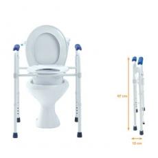 chaise de toilettes 3 en 1 chaise percee avec sceau surelevateur de toilettes et cadre de wc