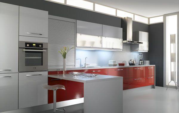 cuisine ariane rouge gris