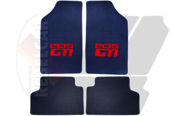 set de tapis de sol bleu fonce pour 205 gti