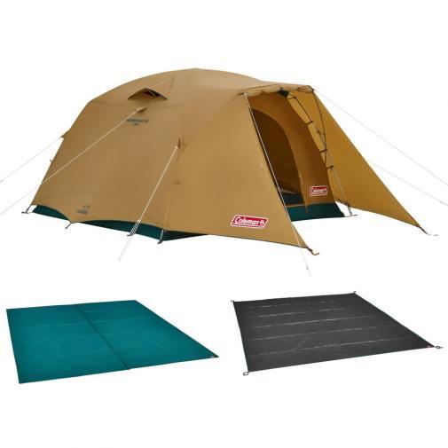 コールマン 2021年新作 タフワイドドーム V/300スタートパッケージ 2000038138 キャンプ ドームテント マット シート セット 大型  4人用 5人用 6人用 Coleman 公式通販 アルペングループ オンラインストア