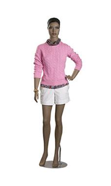 fiberglass female ethnic mannequin