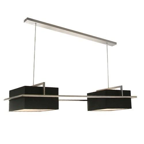 interesting hanglamp stoer lampenkap zwart rvs with frame