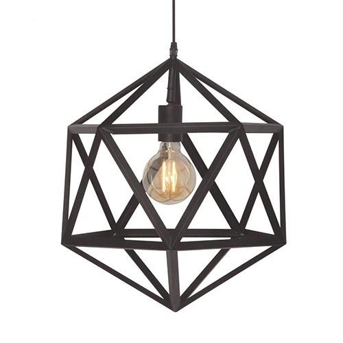 Moderne hanglamp Cubo zwart slaapkamer  Straluma