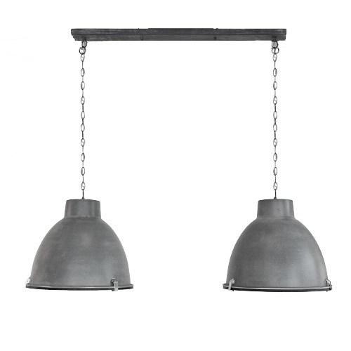 Hanglamp 2L Dubbele Kap Eettafel beton  Straluma