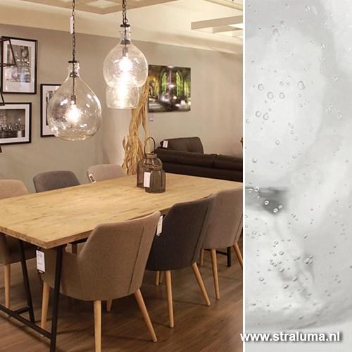 Glazen hanglamp Gabi keuken hal  Straluma