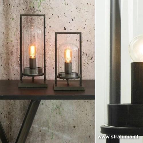 Industriele tafellamp lantaarn metaal  Straluma