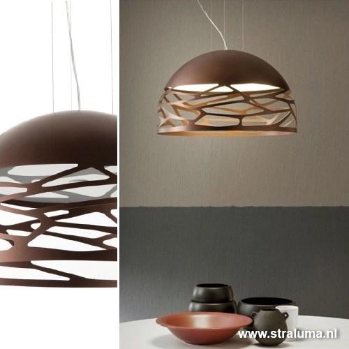 Hanglamp koepel brons 60cm 3xe27  Straluma