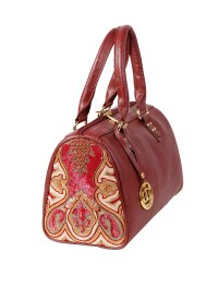 Images Bags | Kashmiri Zardosi Leather Tote | Shop ...