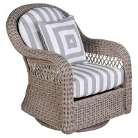 South Sea Rattan Arcadia Wicker Swivel Glider - Wicker ...