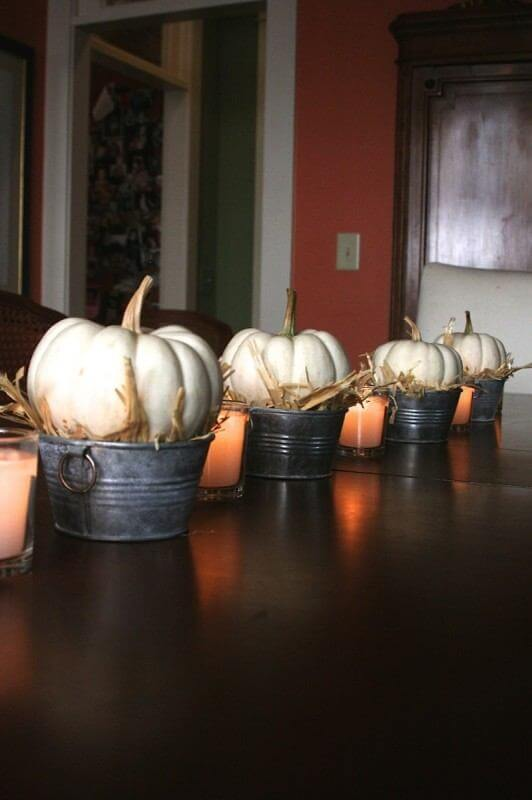White Pumpkins and Fall Decor