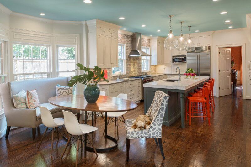 renovated kitchen what is the average cost of refacing cabinets before after a renovation success story this colorful great for family check out blue ceiling