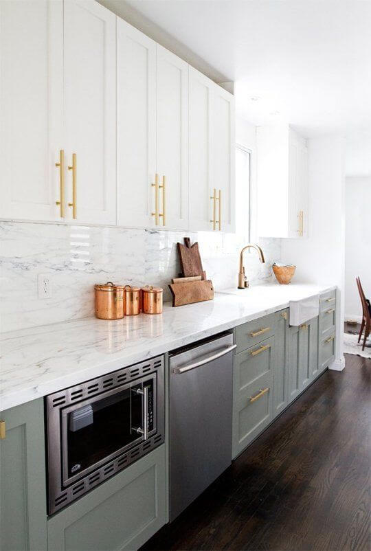 brass kitchen pulls island with chairs comeback of the year in apartmenttherapy com