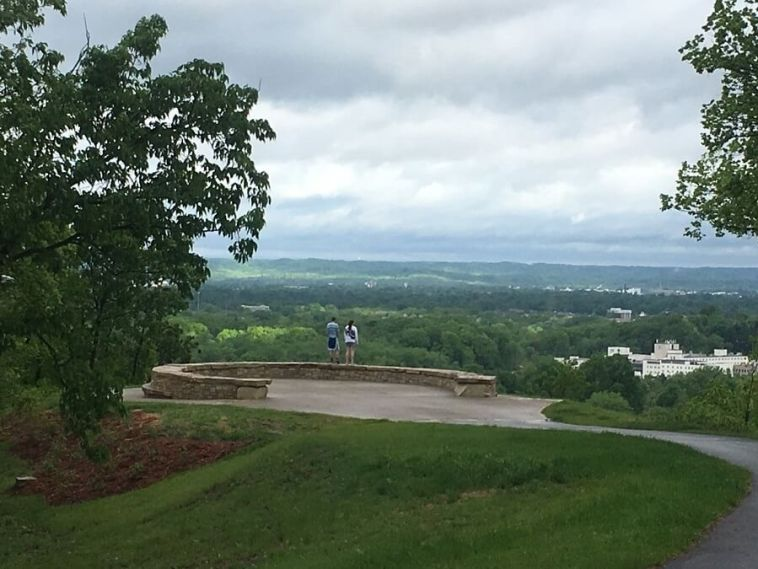 Iroquois Park lookout view of Louisville