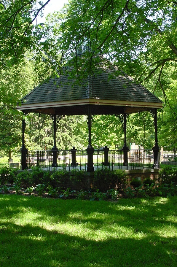 The iconic Willow Park gazebo is home to a summer concert series and more than a few marriage proposals, we hear. Image: Olmsted Parks Conservancy