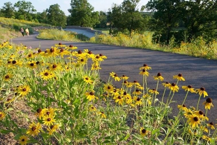 The Parklands of Floyds Fork includes 19 miles of paved paths that connect al four parks. Image: The Parklands