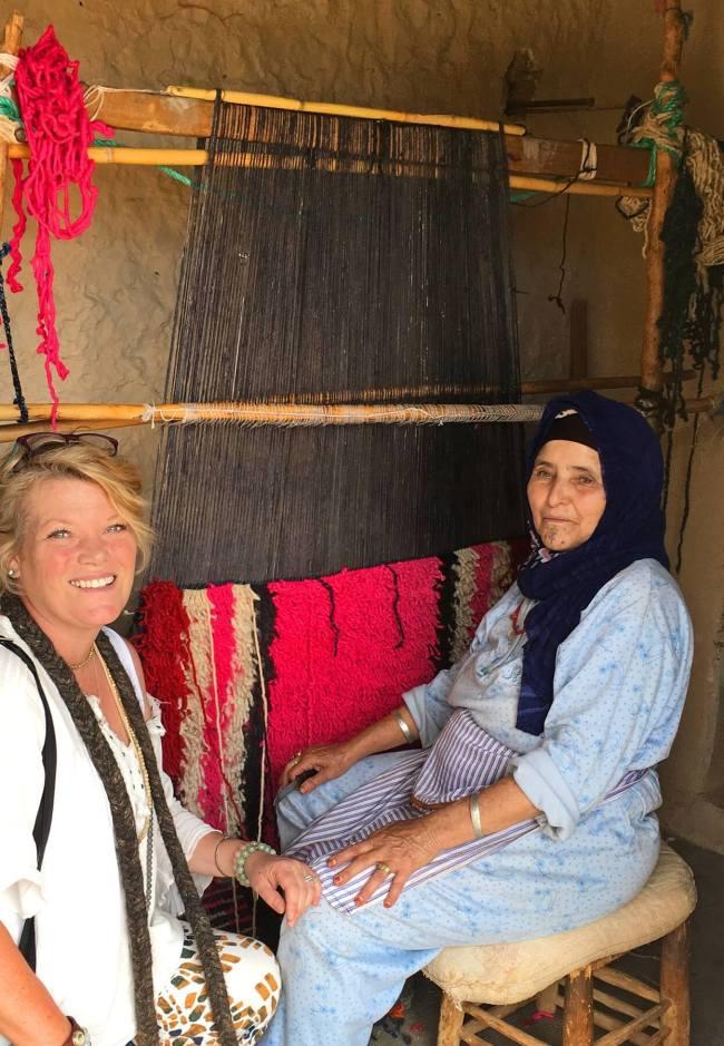 La mère de Mustafa et Kirstin partagent leur amour commun pour l'art.