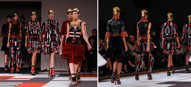 Alexander McQueen SS14 fashion show
