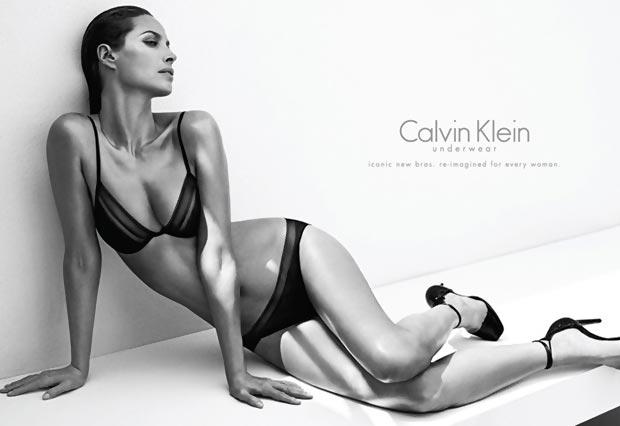 Christy Turlington Calvin Klein lingerie ad campaign