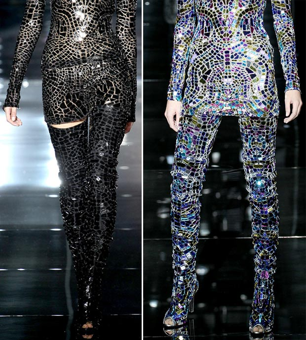 disco boots thigh high Tom Ford Spring Summer 2014
