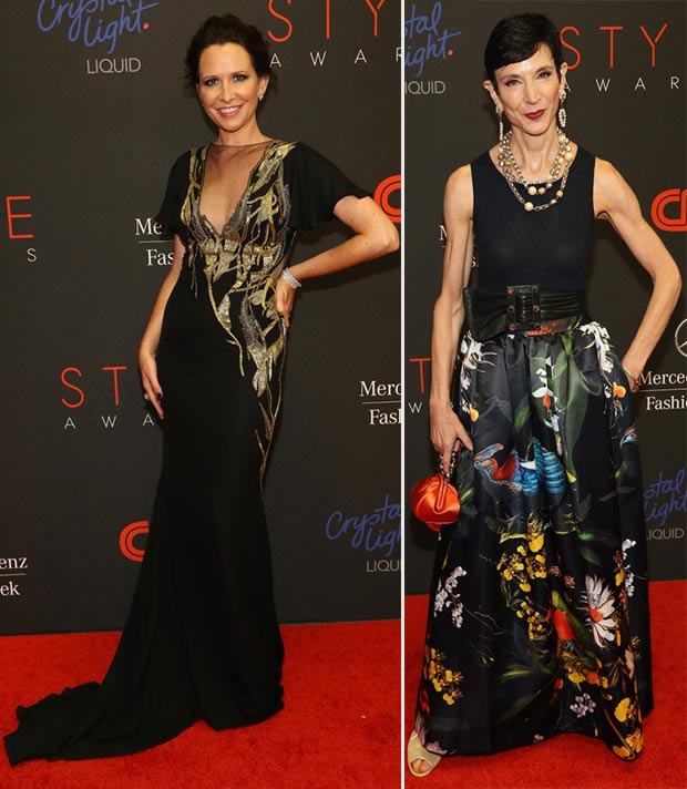 Janie Bryant Amy Fine Collins 2013 Style Awards dresses