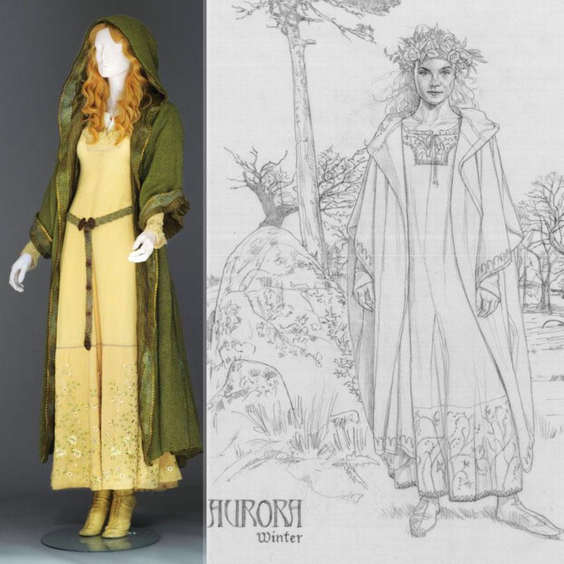 Elle Fanning Aurora Costume Maleficent Costumes   ...
