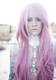 pink hair styles dye