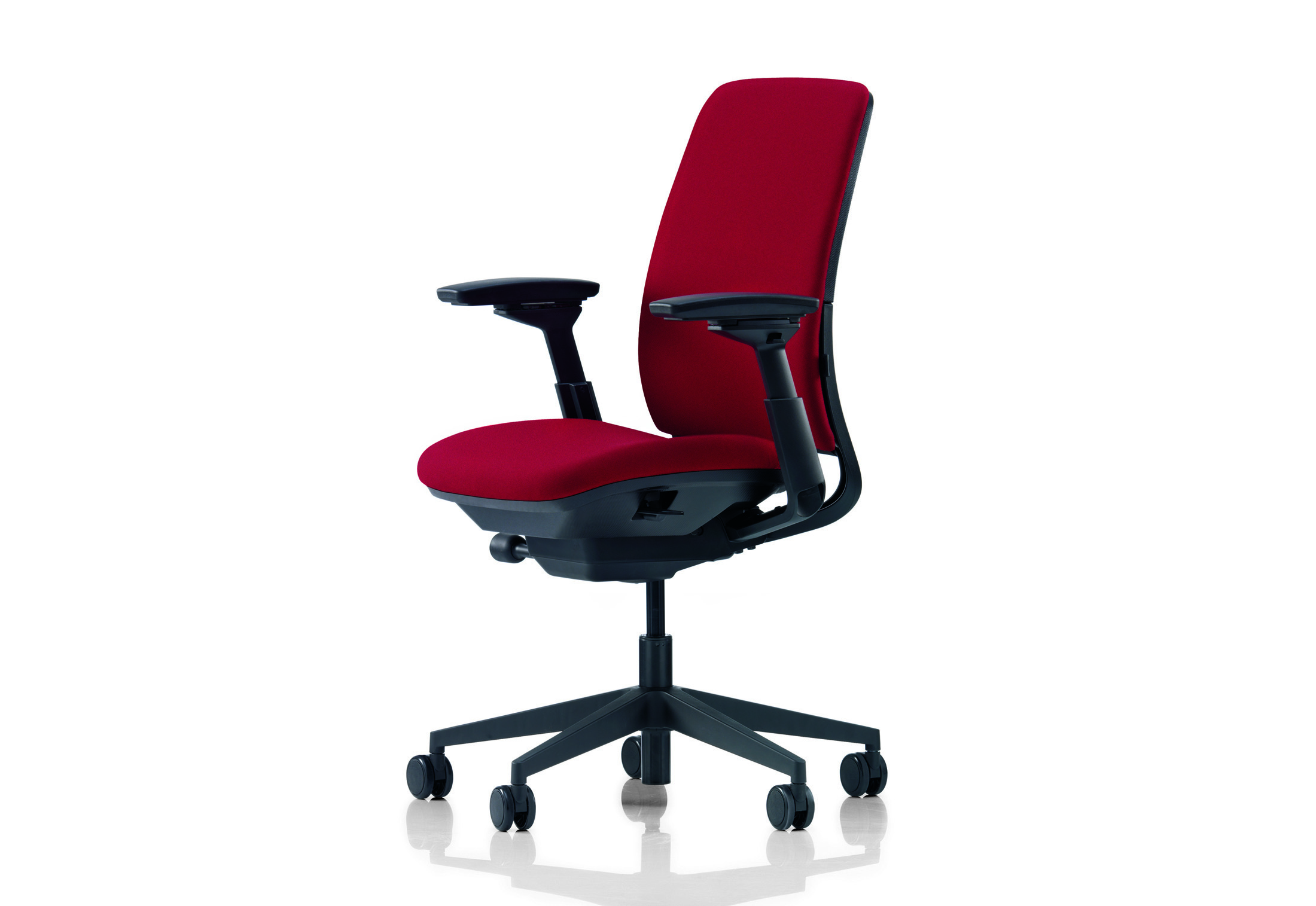 steelcase amia chair charcoal gray covers by stylepark